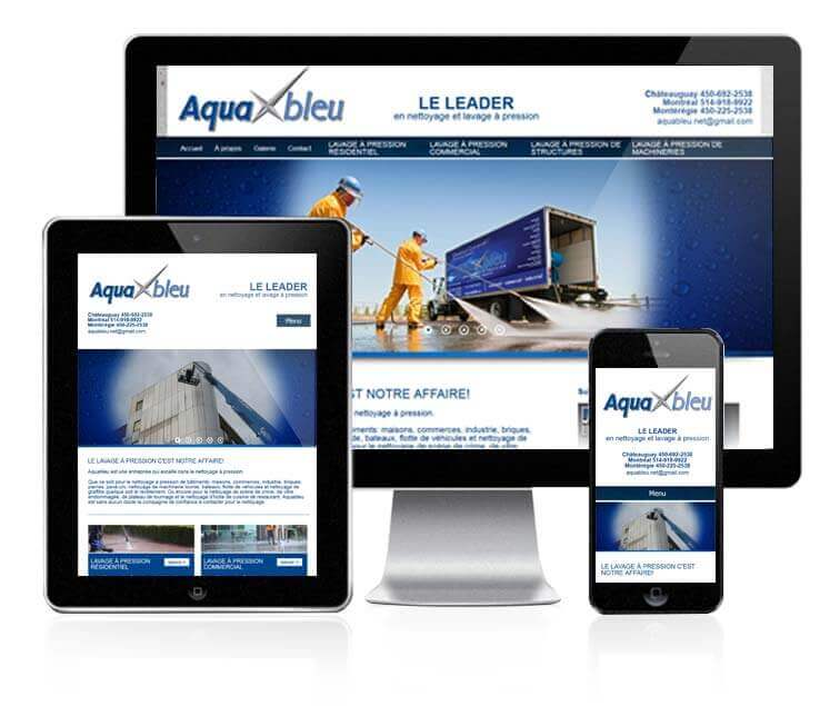 Design et conception du site web de Aquableu
