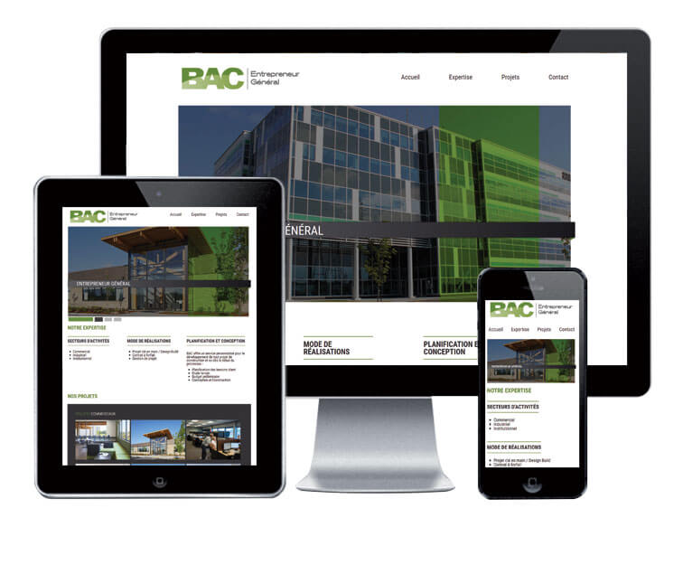 Design et conception du site web BAC inc.