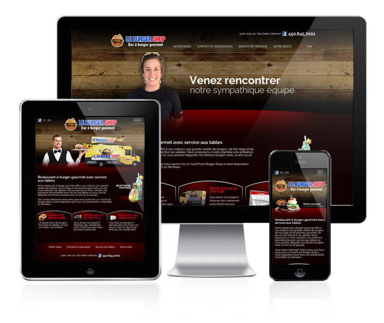 Design et conception du site web Le Burger Shop