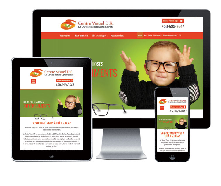 Design et conception du site web Centre Visuel DR.