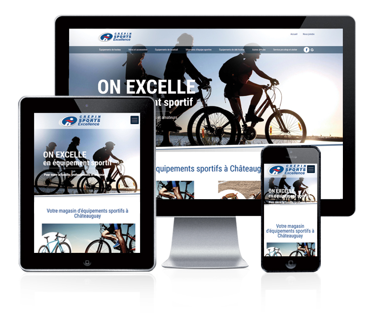 Design et conception du site web Crépin sports Excellence