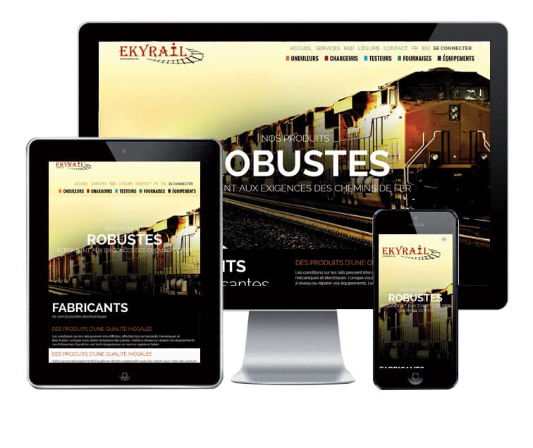 Design et conception du site web de Ekyrail