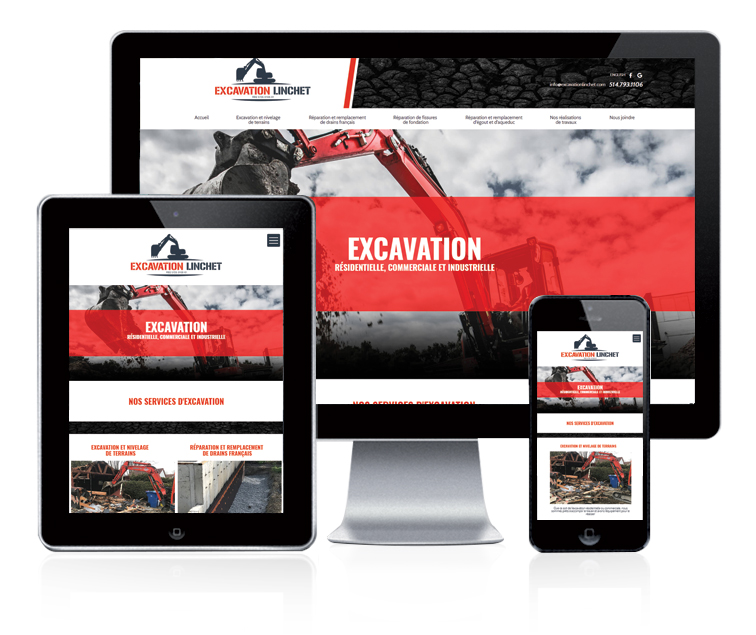 Design et conception du site web Excavation Linchet