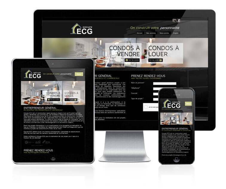 Design et conception du site web de Groupe ECG