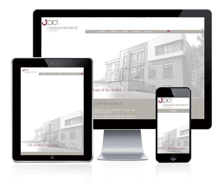 Design et conception du site web de Julie Dagenais Architecte et associés