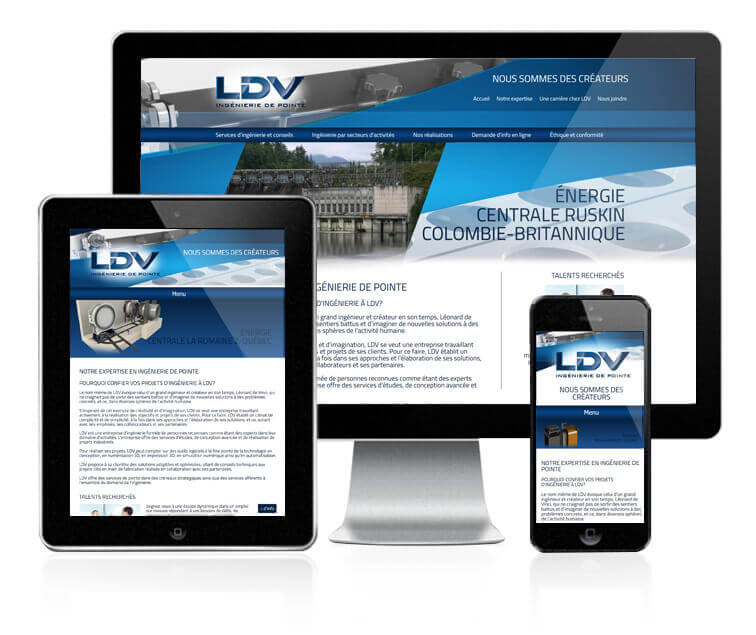 Design et conception du site web de LDV Consultants