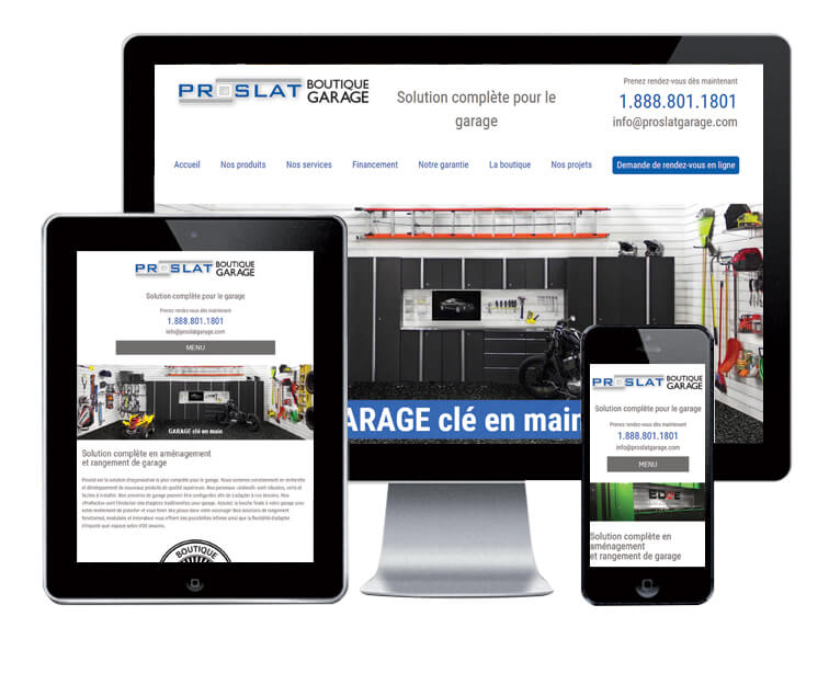 Design et conception du site web de Proslat