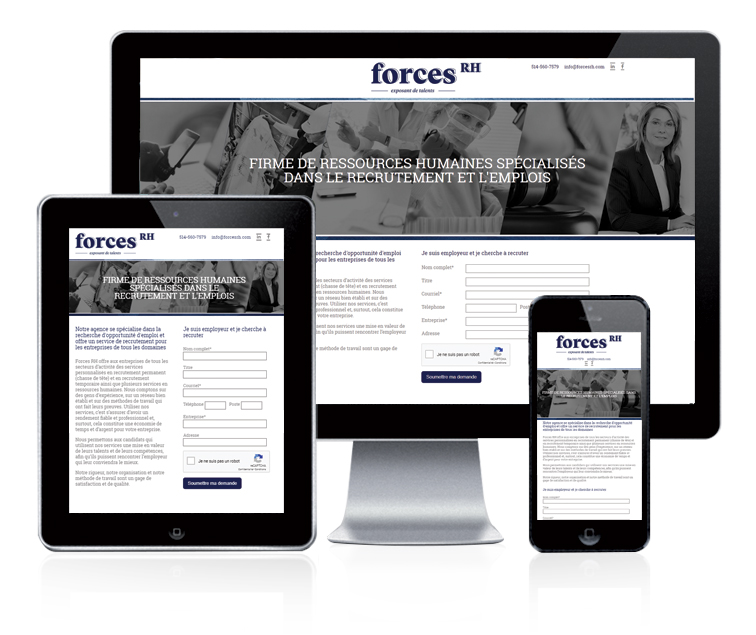 Design et conception du site web Forces RH